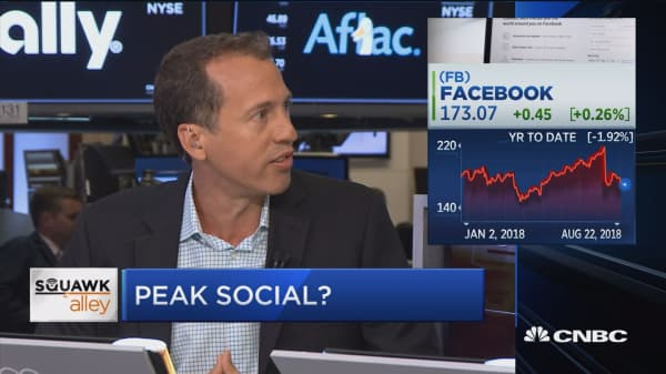 Experts don't believe we've reached a peak in social media stocks just yet