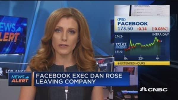 Facebook exec Dan Rose leaving company