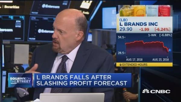 L Brands's CEO is behind the times, says Jim Cramer