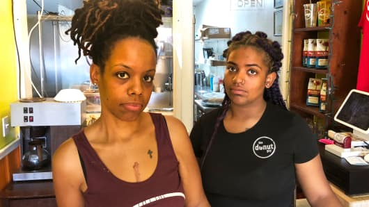 Crystal Paulk and her daughter, Imani, say the family business will stay afloat in the wake of another company closing. But as Winnsboro residents they're concerned for their community.