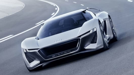 Audis New Electric Car Goes From To In Seconds - Audi e car