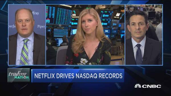 Trading Nation: Netflix drives Nasdaq records