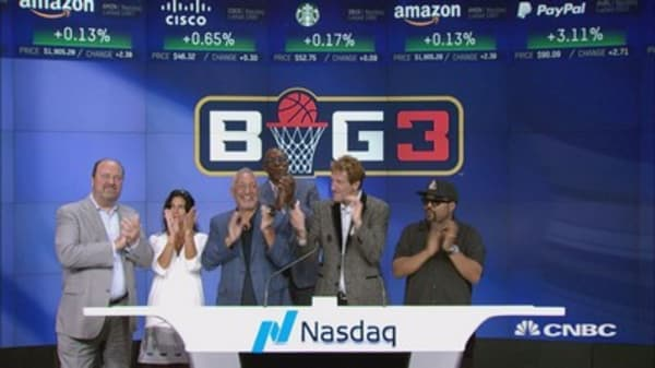 Ice Cube and the BIG3 ring Friday's closing bell at the Nasdaq