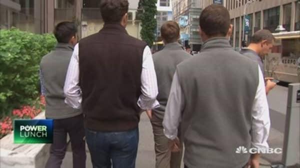 The fleece vest craze