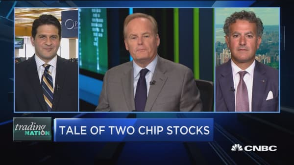 Trading Nation: Tale of two chip stocks