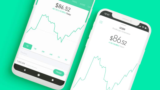 The Robinhood app on IOS and Android