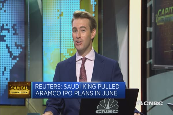 Saudi king halts ipo aramco