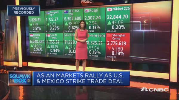 Asia markets on the rise following US-Mexico trade deal