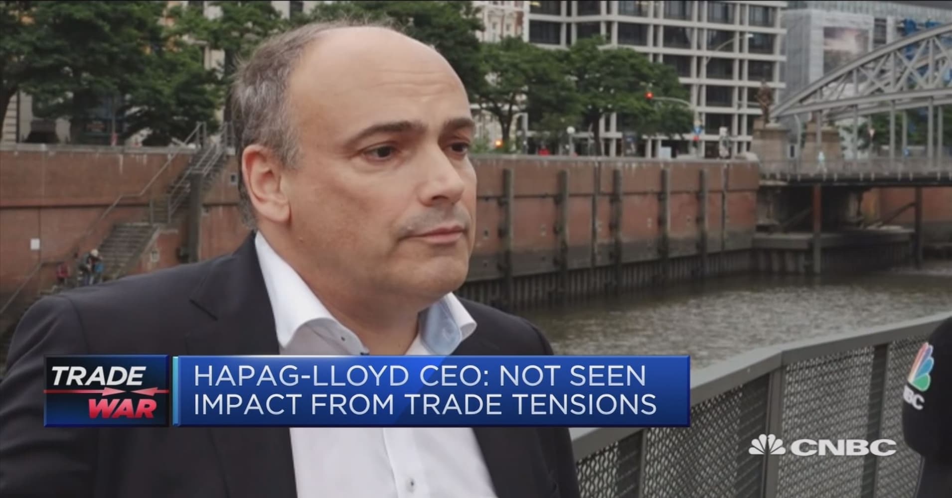 Hapag-Lloyd CEO: Not yet feeling an impact from trade talks