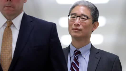 Former associate deputy U.S. attorney general Bruce Ohr arrives to testify behind closed doors before the House Judiciary and House Oversight and Government Reform Committees, August 28, 2018.