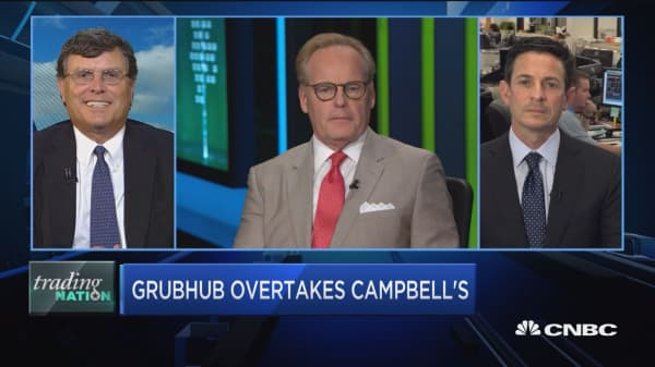 Trading Nation: Grubhub overtakes Campbell's