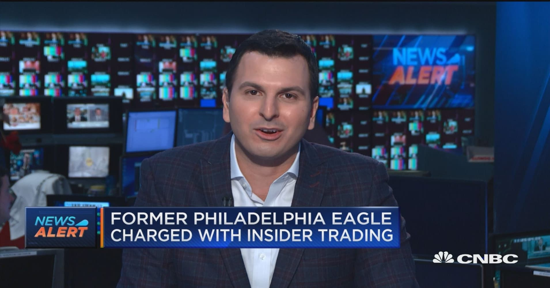 Former Philadelphia Eagles player charged with insider trading