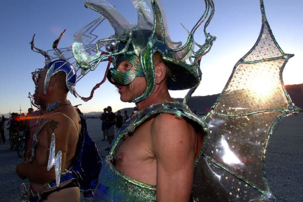 Burning Man attendees in 1999.