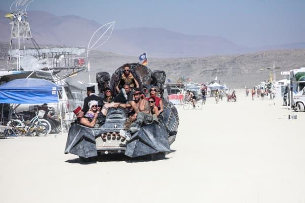 Burning Man attendees in 2012.