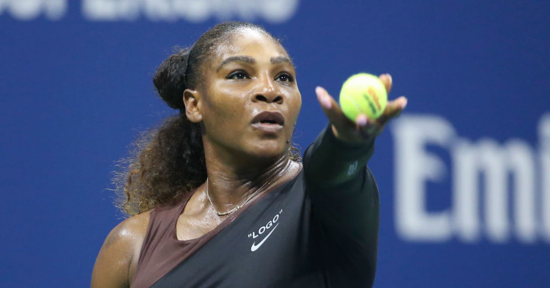 Serena Williams during day one of the 2018 US Open in Flushing Meadows, Queens, New York City.