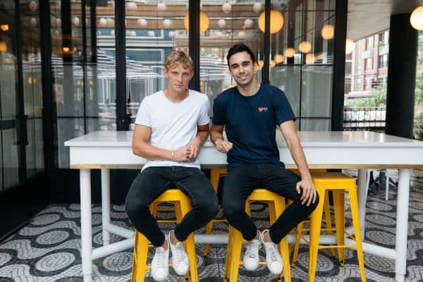Unfold co-founders Andy McCune and Cobo Alfonso
