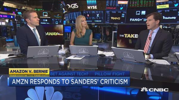 Amazon responds to Bernie Sanders' criticism of poor working conditions