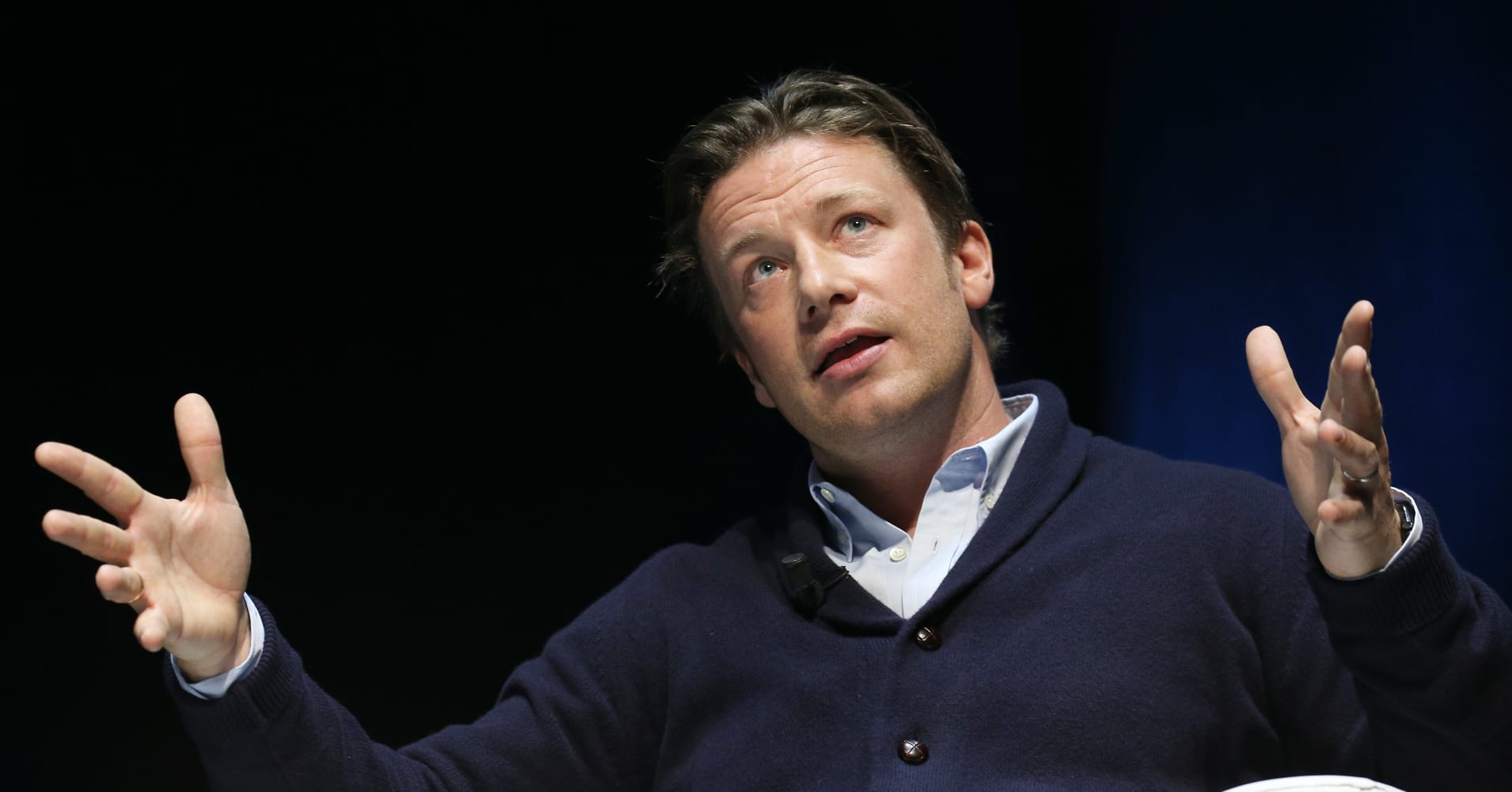 Chef and businessman Jamie Oliver  speaks onstage at the Edelman seminar  during the Cannes Lions International Festival of Creativity on June 23, 2015 in Cannes, France.