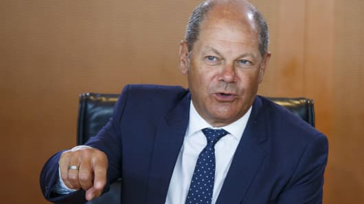 Finance Minister and Vice Chancellor Olaf Scholz