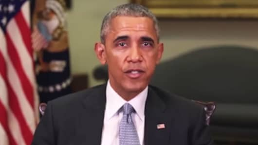 A fake video purporting to be Barack Obama