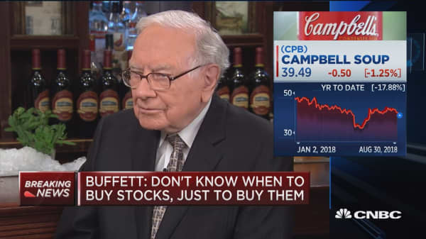 Buffett: Campbell won't get significant premium for assets