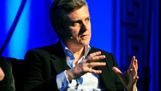Mark Read, head of WPP Digital, a unit of WPP Plc, speaks in Dublin, Ireland, Oct. 30, 2013.