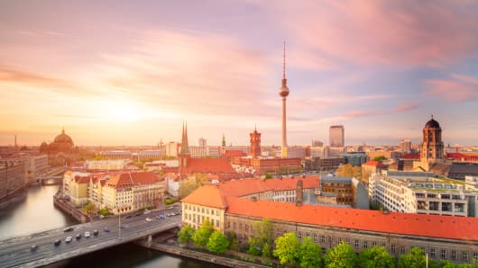Berlin skyline Summer panorama