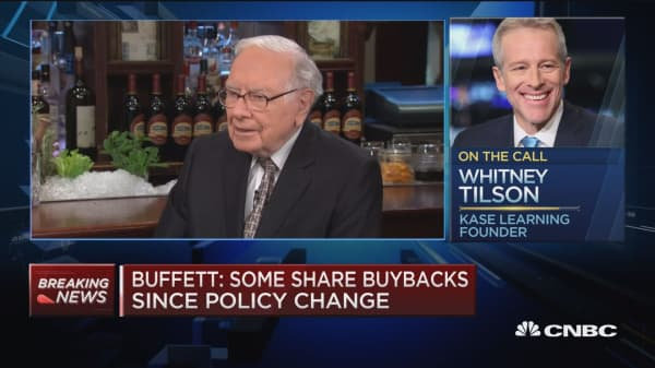 Whitney Tilson on Berkshire buying back its own stock