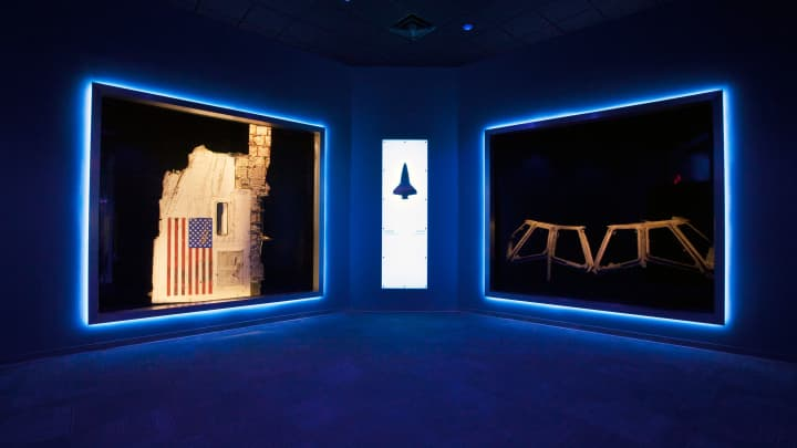In 'Forever Remembered'- recovered parts of Challenger and Columbia