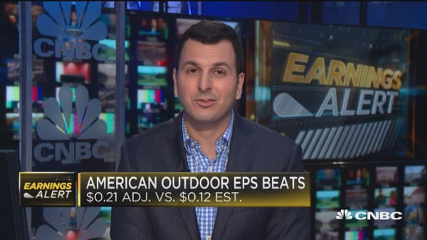 Gun maker American Outdoor Brands jumps on earnings beat