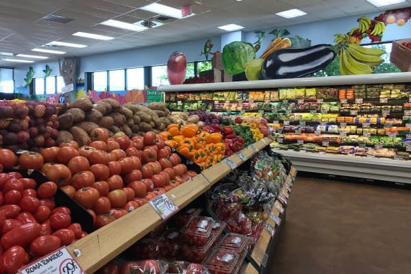 The produce section of Trader Joe's in Edgewater, New Jersey.