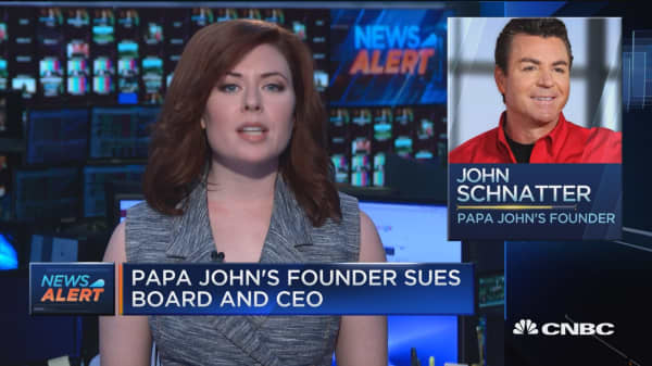 Papa John's founder sues board and CEO to stop 'irreparable harm'
