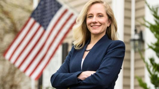 A campaign image of Abigail Spanberger