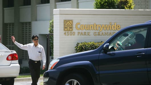 The Countrywide Financial headquarters is seen on July 18, 2008 in Calabasas, California.