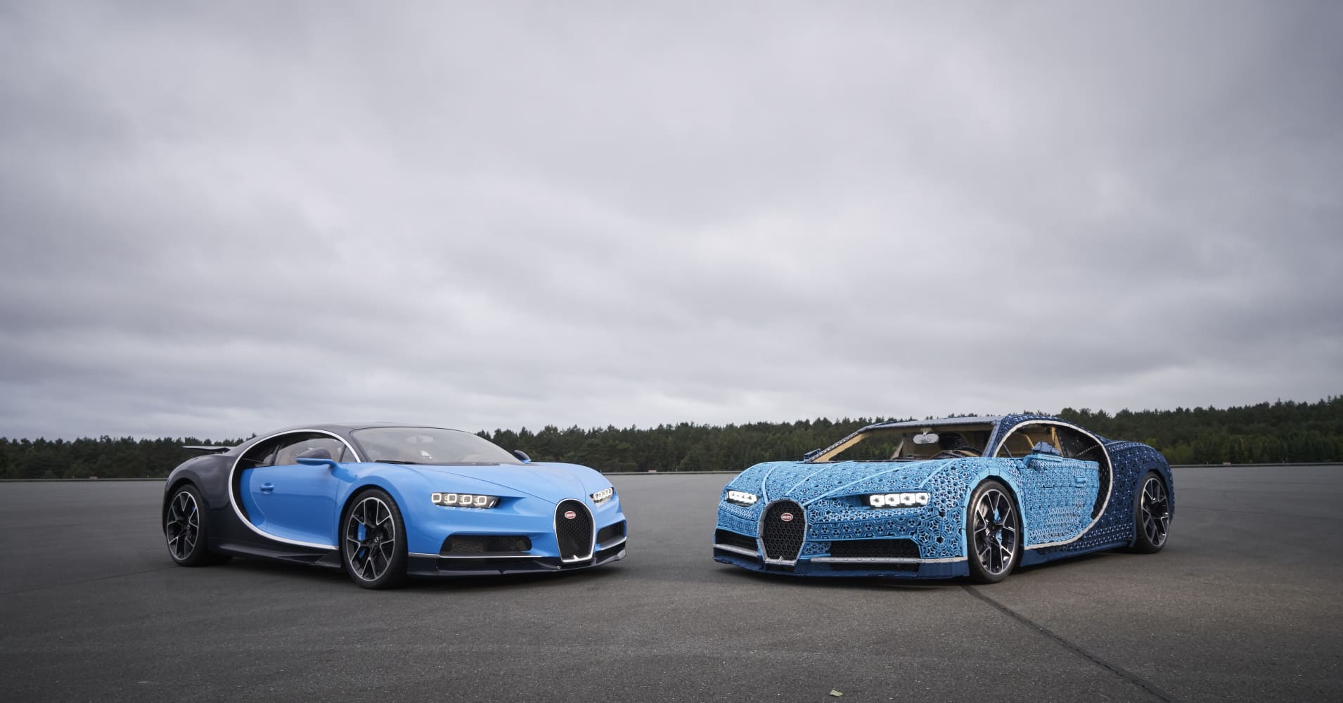 This life-size, driveable Bugatti Chiron supercar is built entirely from Legos — take a look
