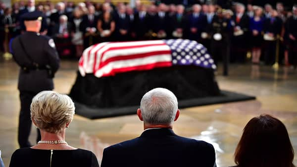 McCain memorial service takes place on Capitol Hill