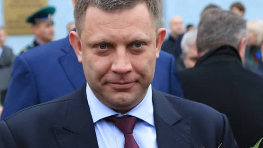 The head of the Donetsk People's Republic, Alexander Zakharchenko.