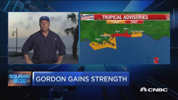 Gordon gains strength before making landfall on Gulf coast