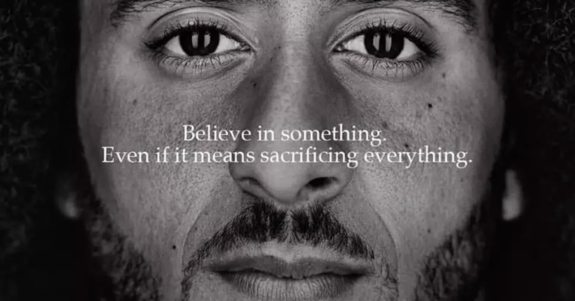 Nike's Kaepernick ad draws record likes on social media, boosts sales