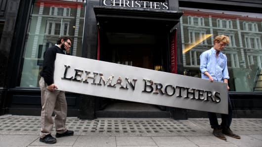 On Sept. 29, 2010, the second anniversary of Lehman Brothers' bankruptcy, the firm put their artwork up for auction at Christies. The auction comprised the artwork that hung on the walls of Lehman Brothers' offices in Europe.