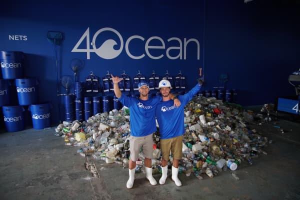 4Ocean co-founders Alex Schulze and Andrew Cooper.
