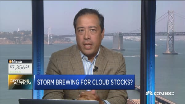 Trader bets a storm is brewing for one cloud stock