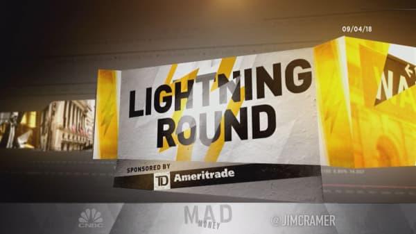 Cramer's lightning round: Don't give up on the sliding Schlumberger