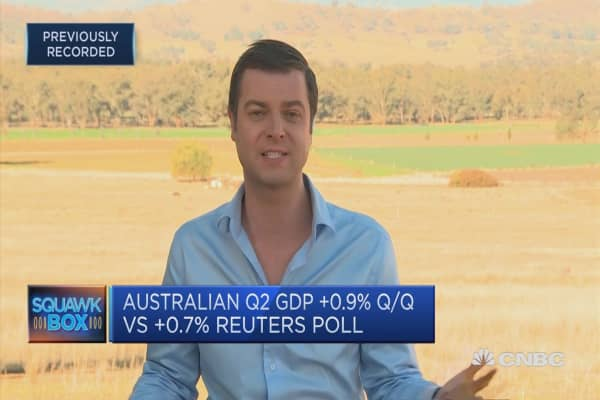 Worries Australia's drought could impact growth