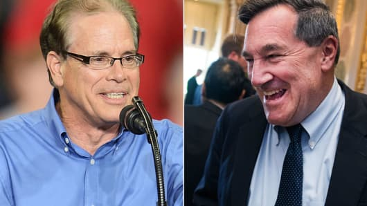 Mike Braun and Sen. Joe Donnelly