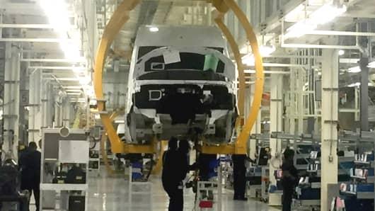 Sprinter Van being assembled at the Mercedes-Benz Vans plant, in Ladson, S.C.