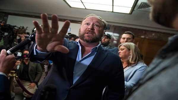 Infowars' Alex Jones speaks ahead of tech exec hearings