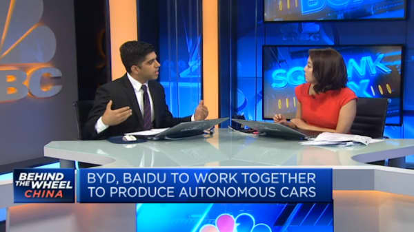 Baidu, BYD partner to bring mass production of self-driving cars