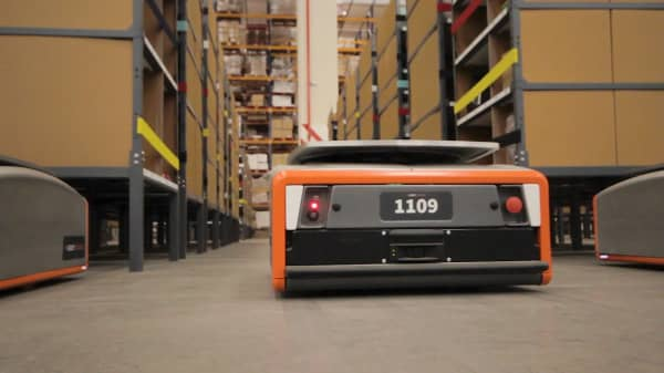 GreyOrange Butler Robot working in a warehouse