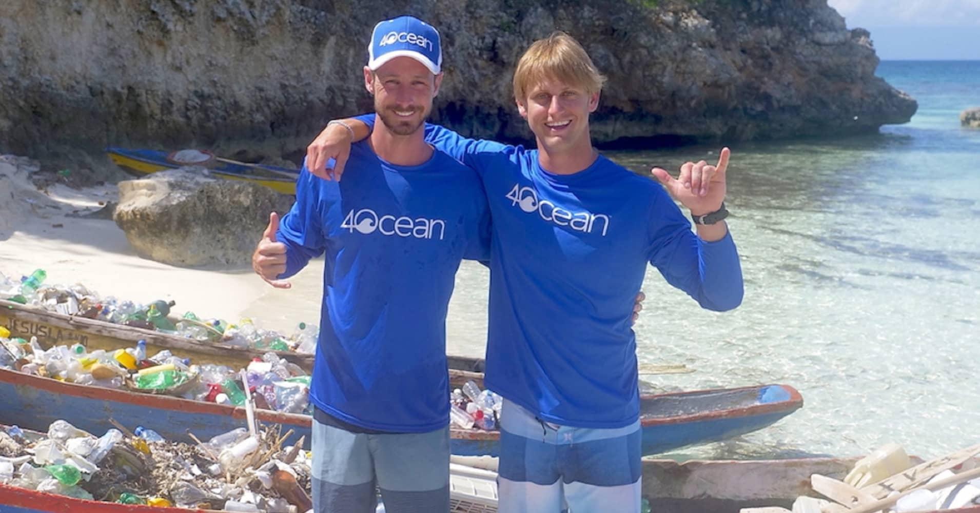Andrew Cooper and Alex Schulze in Haiti